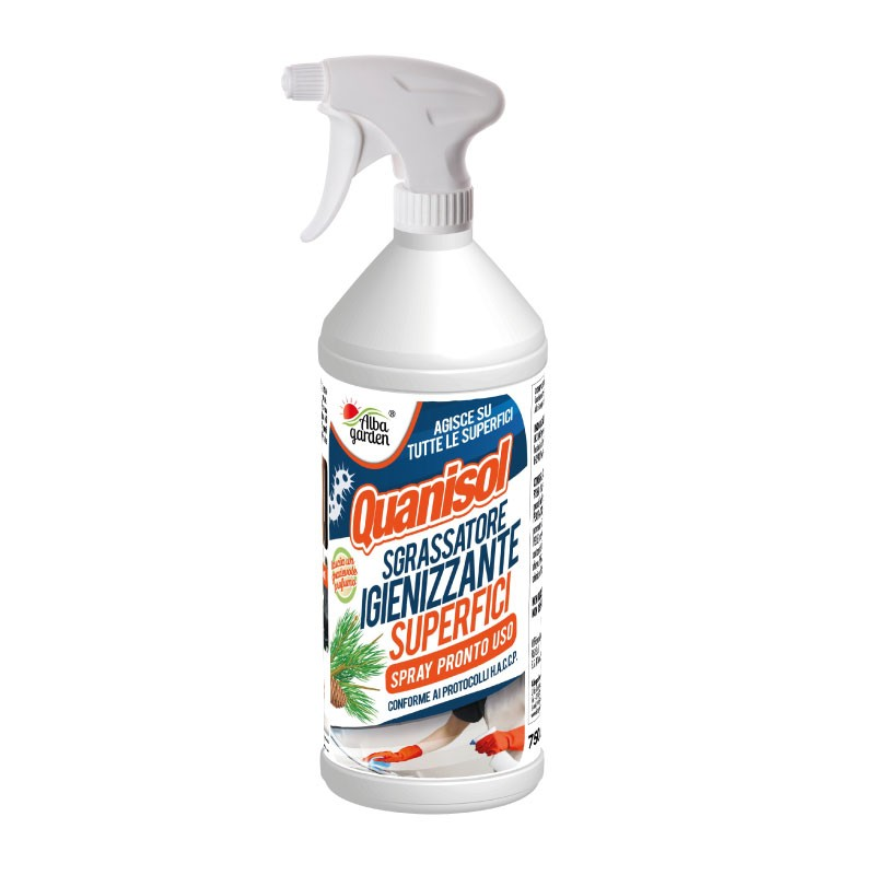 Quanisol sgrassatore igienizzante SUPERFICI HACCP x spray 750 ml
